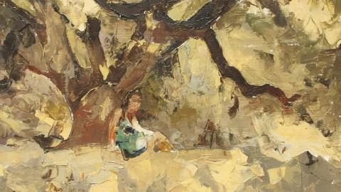 Jeune fille à la pêche (Port Navalo)